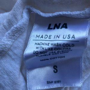 LNA Tops - LNA V-Neck Crop T-Shirt White
